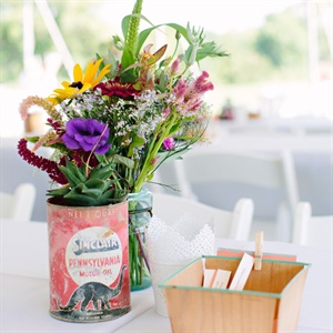 Vintage-Inspired Wildflower Centerpieces