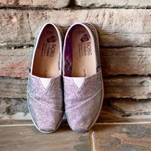 Shimmery Slip-on Bridal Flats