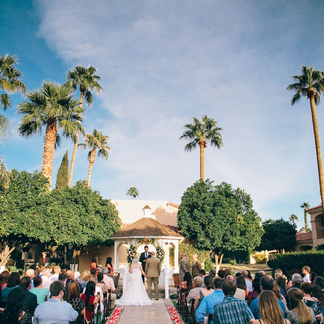 Emily and Erik exchanged vows beneath the palm trees at The Scottsdale Plaza Hotel in Scottsdale, AZ.