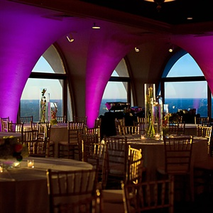 Elegant Purple Reception Space