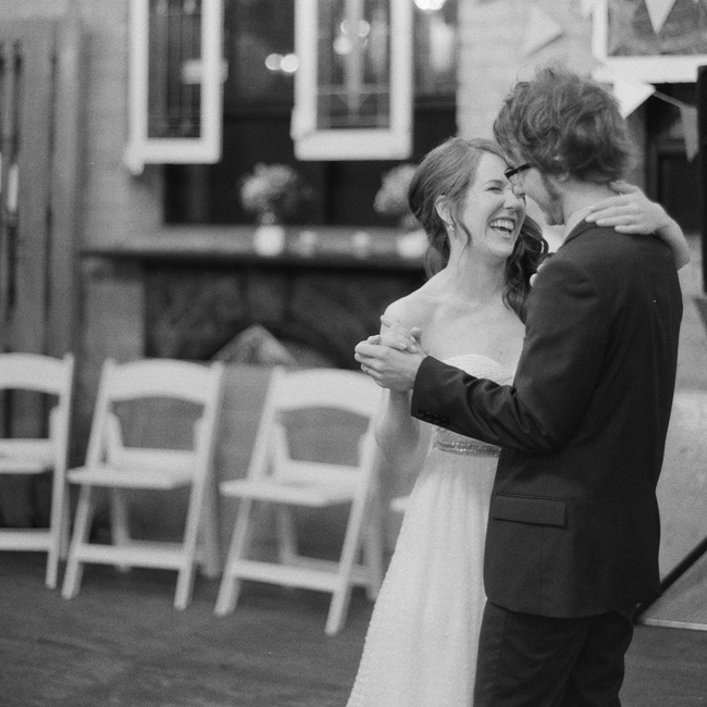 "The couple chose Iron & Wine's ""Love and Some Verses"" for their first dance. ""Both Aaron and I have a strong connection to the album, and I just know that anytime I hear this über romantic song and think of Aaron, I tear up,"" says Katie."