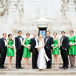 Green and Black Wedding Party
