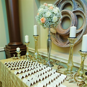 Metallic Escort Card Display