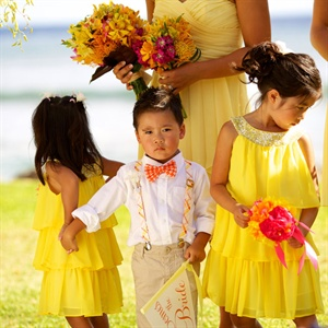 Yellow Flower Girl Attire