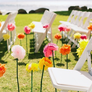 Long Stemmed Flower Aisle Markers