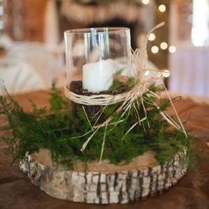Woodland Candle Centerpieces