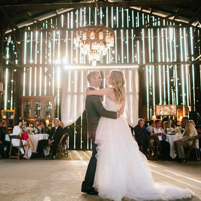 Ali and Ryan danced under the stunning chandeliers and strings of bistro lights to music provided by LaBarbera Music & Sound.