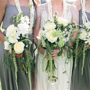 White and Green Bouquets