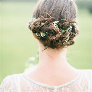 Natural Floral Updo