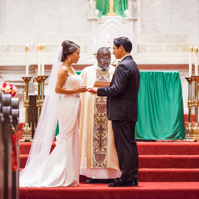 The couple held their traditional ceremony at Old St. Mary's Cathedral, which comfortably accommodated their more than two-hundred guests.