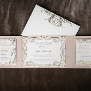 Ornate Blush Invitations
