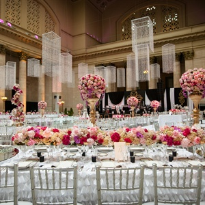 High and Low Pink Centerpieces