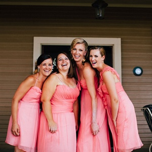 Light Pink Bridesmaid Look