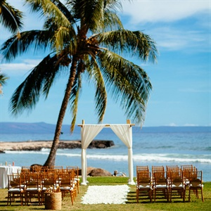 Tropical Ceremony Setting