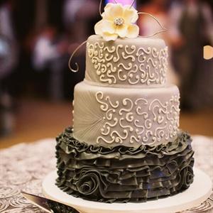 Two-Tone Gray Cake