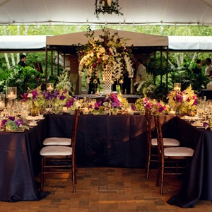Lavish Purple Centerpieces
