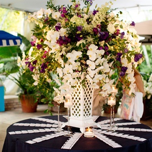 Hanging White Orchids Decor