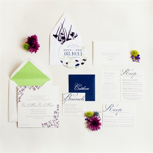 Floral Decorated Invitation Set
