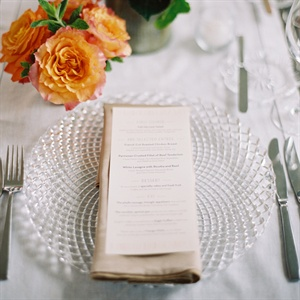 White Menu Cards