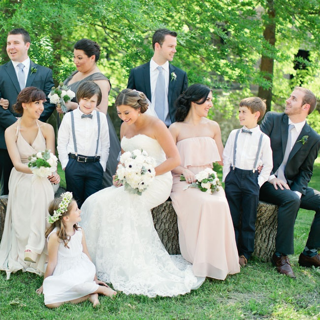 Bridesmaids wore Joanna August while the Groomsmen wore Tommy Hilfiger.