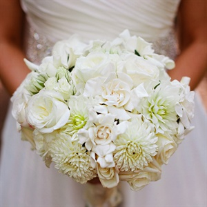 White Rose and Gardenia Bridal Bouquet