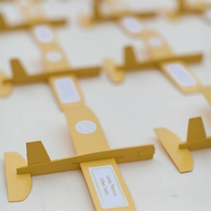 Airplane Escort Cards
