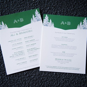 Pine Motif Ceremony Programs