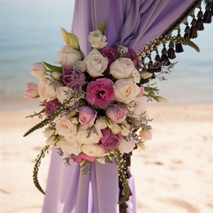 Elegant Purple Wedding Arch