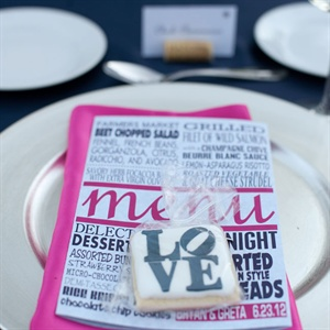 Typography Menu Cards