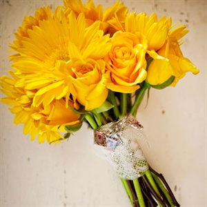 Bright Yellow Bridal Bouquet