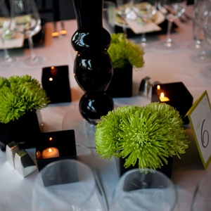 Green and Black Modern Centerpieces