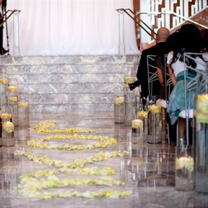 Floating Candle Aisle Markers