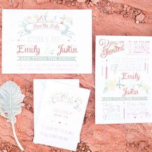 Arrow Motif Invitation Suite