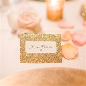 Gold Hand Calligraphed Place Cards