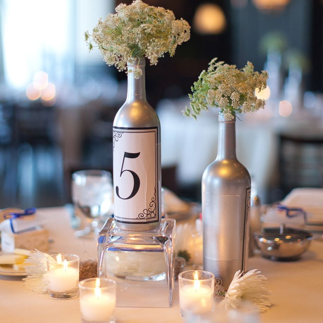 301 moved permanently for Painted wine bottle wedding centerpieces