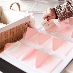 Pink Envelope Guestbook
