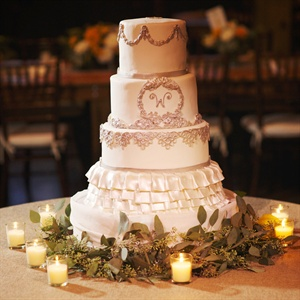 Elegant Ruffled Wedding Cake