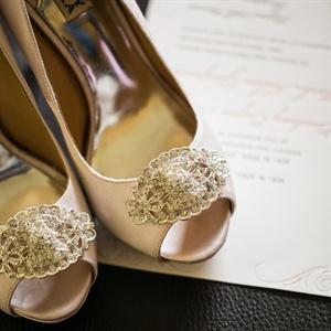 Sparkly Peep Toe Heels