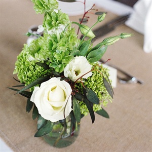 Textured Green Centerpieces