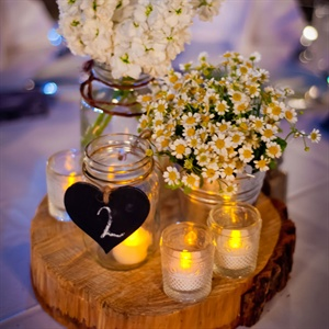 Rustic Wildflower Centerpieces