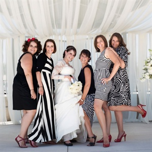 Black and White Bridal Party