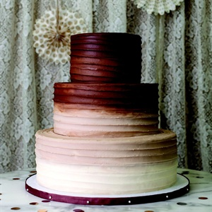 Chocolate Ombre Buttercream Cake