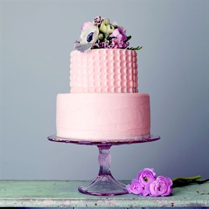 Pink Cake Topped With Flowers
