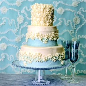 Light Blue Floral Cake