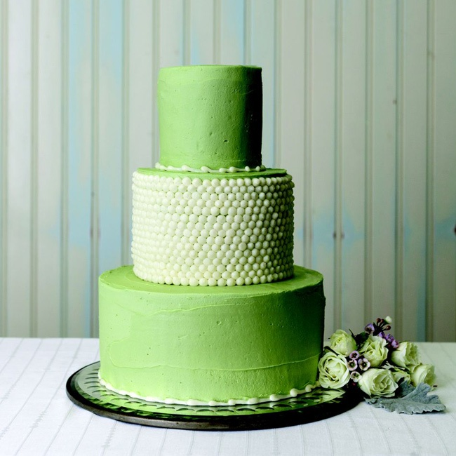 If you're looking for something a bit more playful a buttercream cake in a bright hue is the way to go.