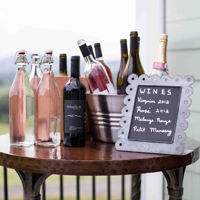 The couple and their guests sipped on a variety of red and white wines straight from the Delaplane Cellars' vineyard.