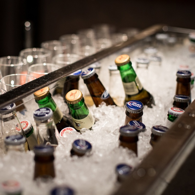 For the non-wine drinkers, a selection of ice cold bottled beer was available for guests to enjoy.