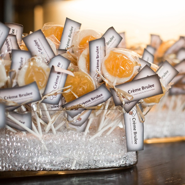 Guests were treated to sweet treats like creme brulee lollipops.