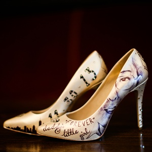 Custom Designed Sentimental Bridal Shoes