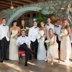 Formal Ivory and White Wedding Party